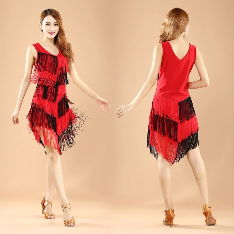women Fringe Latin Dance Dress Ballroom Dancing Dresses Sexy Latin Dance Costume Tango S ...