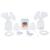 ZIMEITU RH288 USB Eléctrico Doble cara Extractores de leche BPA Bebé Libre de lactancia Después del Parto Retoños de la Leche Materna Extractor de leche