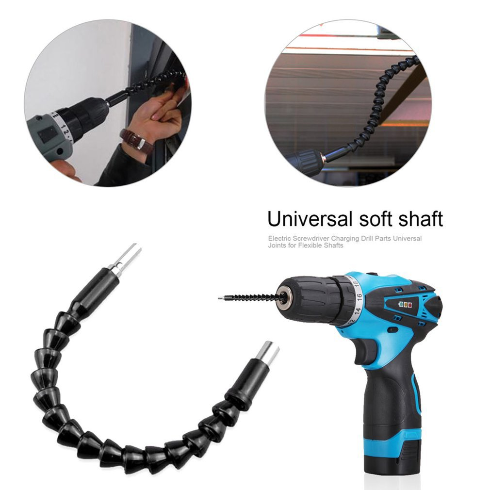 200mm Universal Electric Screwdriver Charging Drill Accessories Soft Shaft Connecting Shaft Batch Head Sleeve Hose Extension Rod