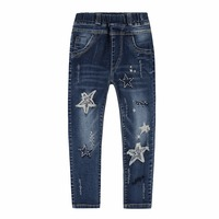 Kids Denim Pants For Girls Jeans Wear 2018 Spring Autumn Trousers Fall Children Jeans Pants Sequined