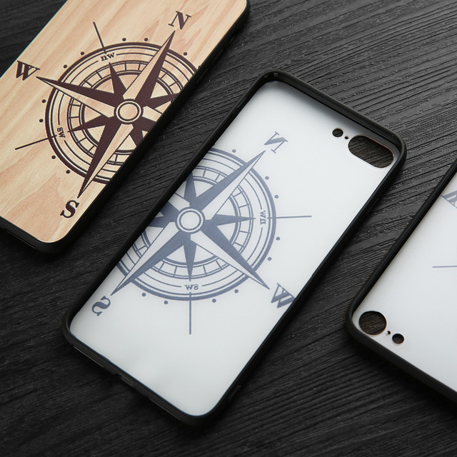 Natural Wood Compass Case for iPhone 5