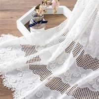 Tissu de coton brodé ajouré 3D Applique tissu de coton gland RS2121