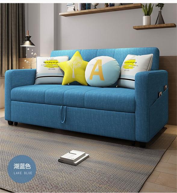 linen hemp fabric sectional sofas  Living Room Sofa set furniture alon couch puff asiento muebles de sala canape sofa bed cama 4