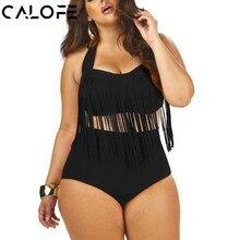 2018 Summer Plus Size Bikini Set For Women Tassel Sexy Halter Top Push Up Bikini Large Size Swimwear XXL 3XL Beach Bathing Suit