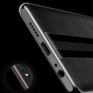 Image 4 - Para Huawei P30 Pro Caso De Couro Vpower Luxo Anti batida Couro Genuíno Telefone Chapeamento de Volta Caso Para Huawei P30 /P30 Capas Pro
