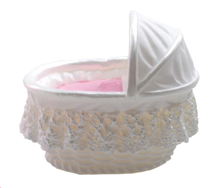 Cake Mold 3D baby kid crib bassinet cradles carriage car silicone mold cake mould Fondan ...