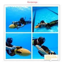 300 Вт Электрический подводный скутер вода море двухскоростной пропеллер дайвинг бассейн скутер Вода 1 компл.. водостойкое спортивное оборудование