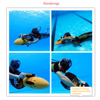 Electric Underwater Scooter Water Sea Dual Speed Propeller Diving Pool Scooter Water 1 Set Waterproof Sports Equipment 300W