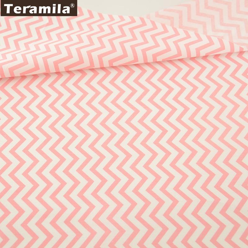 Tela de algodón textiles para el hogar pink waves diseños patchwork quilting cos