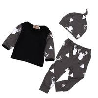 2 Pcs Newborn Baby Girl Boy Clothes Long Sleeve Top T-shirt and Pants Leggings Outfits Set new