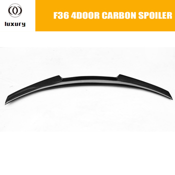 F36 Gran Coupe Carbon Fiber Rear Wing Spoiler for BMW F36 420i 428i 435i 418d 420d 430d 435d 4-Door 2014 2015 2016 M4 Style image