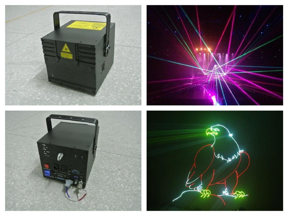 Full Color 3W RGB Animation Laser Stage Light Analog Modulation 20Kpps/30k scanner ILDA Control laser event wedding party цены онлайн