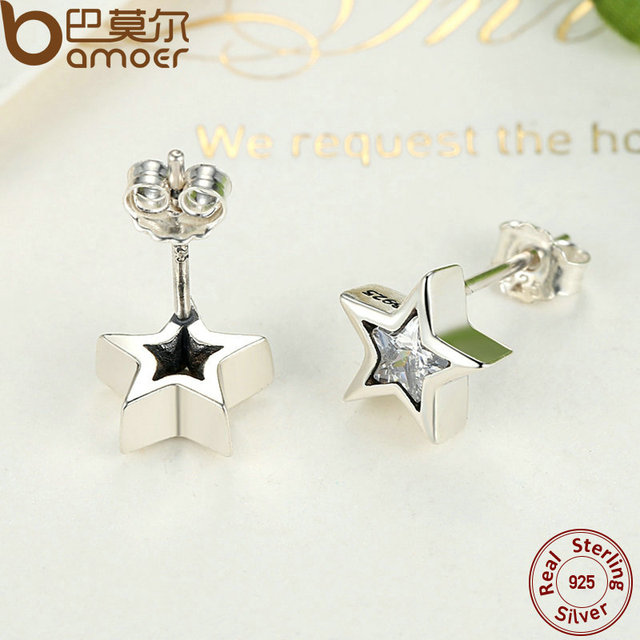Sterling Silver Star Push-back Women