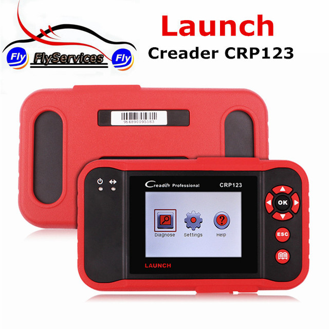 Flash Promo LAUNCH X431 Creader CRP123 OBDII Code Scanner Launch CRP 123 ABS SRS Transmission and Engine Update Via Official Fast Shipping