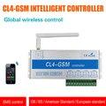 GSM SMS Controlador CL4-GSM Sensor Remoto Inalámbrico Interruptor Inteligente Seguridad Para El Hogar sistema de Encendido/Apagado de Control EE.UU. Plug/UK Plug/Enchufe de LA UE