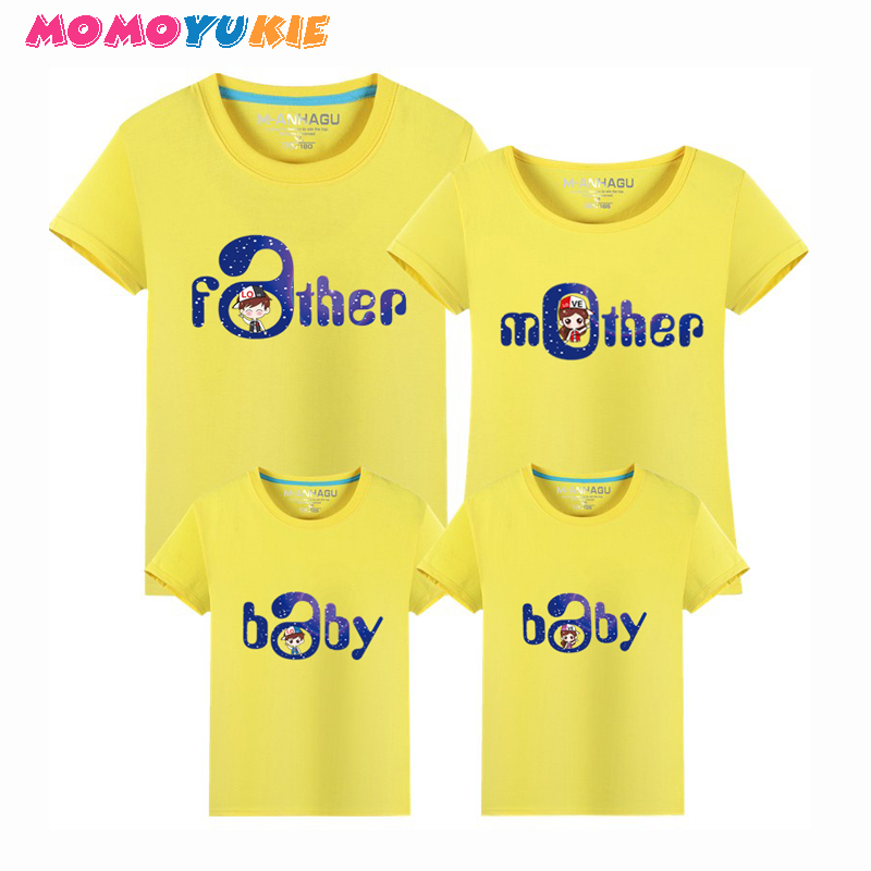 Brand 1piece Family Matching Outfits Minions T Shirts mother kids