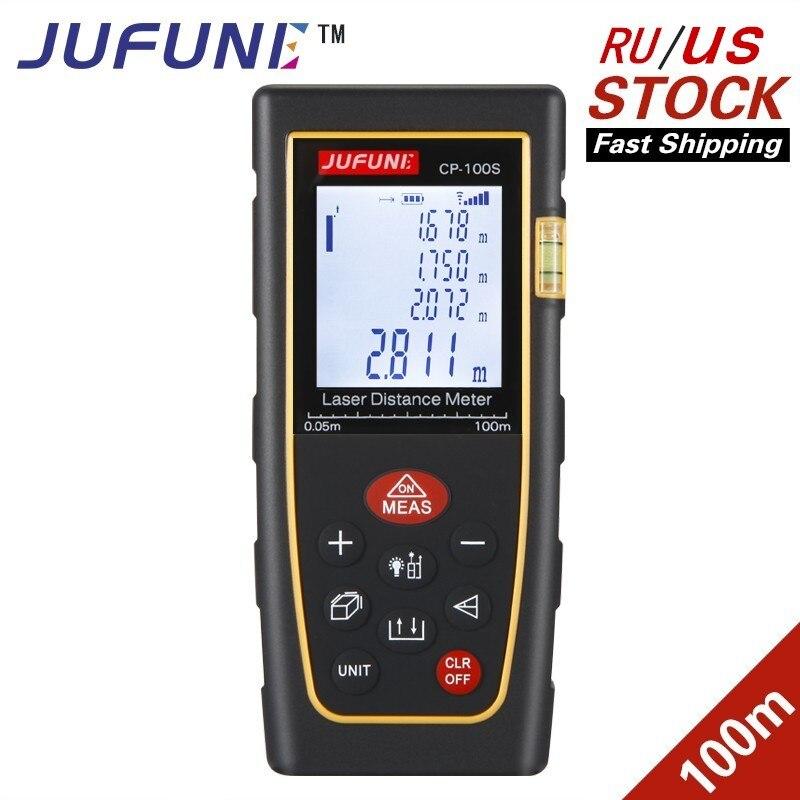 Medidor de distancia láser JUFUNE 40 m 60 M 80 m 100 M 120 m telémetro trena herramienta de prueba de regla de dispositivo de medición de construcción