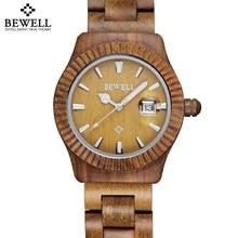 Lijadoras de madera de arce bambú bewell auto fecha relojes de los hombres mujeres de la moda retro de madera amantes de los pares del reloj de tiempo horas relojes de cuarzo