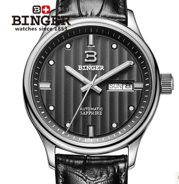 Binger Brand Young Men Sports Watch Fashion Casual Quartz Wristwatches Luminous Analog 24 Hours Waterproof Watches New 2017 2017 new binger fashion casual cow leather watches waterproof wristwatches hours for man sapphire orange quartz watch