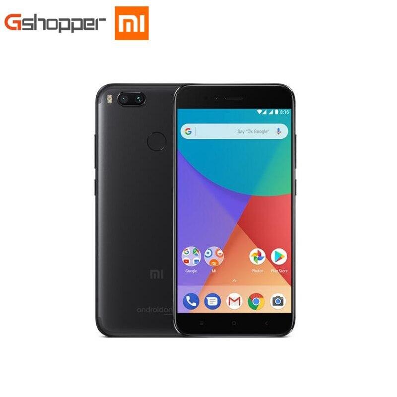"""Cep telefonları ve Telekomünikasyon Ürünleri'ten Cep Telefonları'de Küresel Sürüm Xiao mi mi A1 4 GB 32 GB/4 GB 64 GB cep TELEFONU Octa Çekirdekli Snapdragon 625 Cep Telefonu 5.5 """"12.0MP Çift Kamera Android title="""