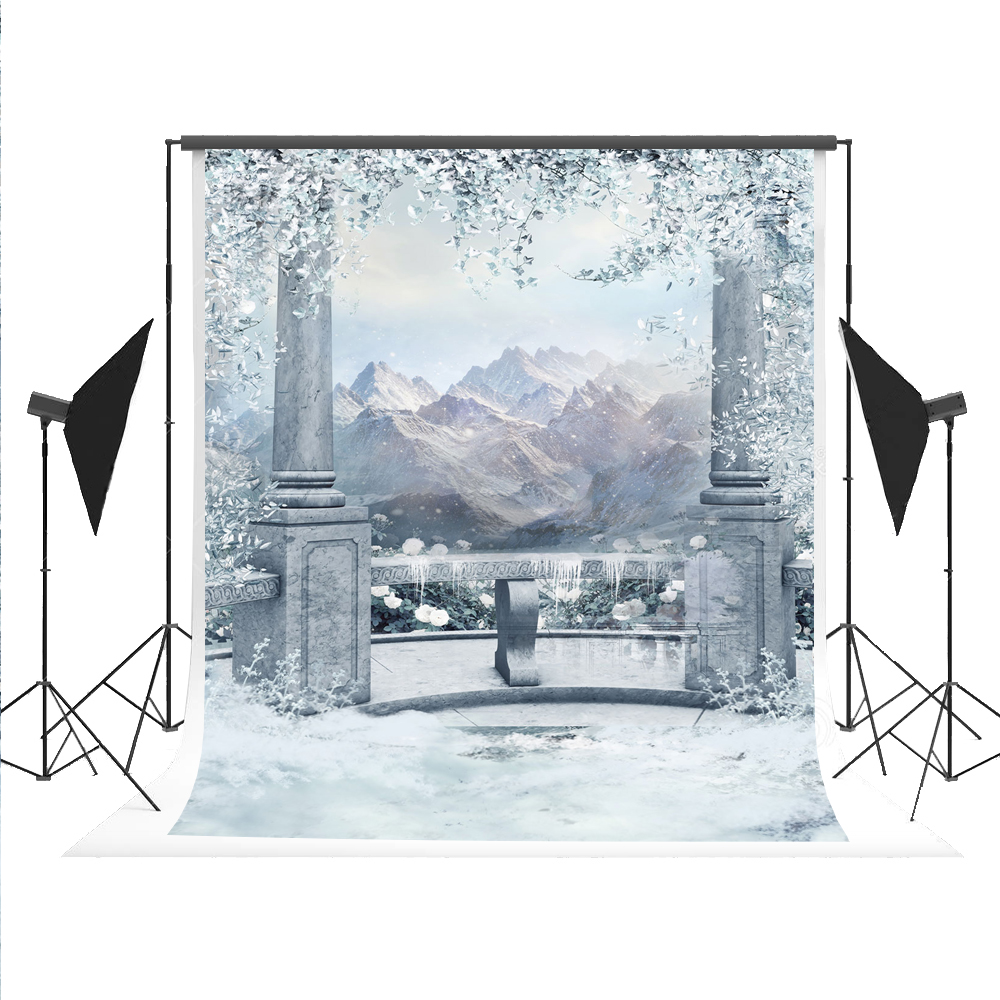 Photography Backdrop Portable Ice World Photography-studio-backdrop Winter Photo Background Snow Mountain Photographer Props 5x7 dunlop sp winter ice 02 205 65 r15 94t