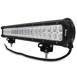 Safego 20 ''calowa listwa świetlna led 126w światło robocze dla ciężarówka terenowa ciągnik łódź suv atv lampa do pracy 12v 24v combo beam