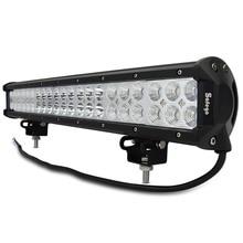 Safego 20 inch led light bar 126w work light for off road truck tractor boat suv atv driving working light 12v 24v combo beam