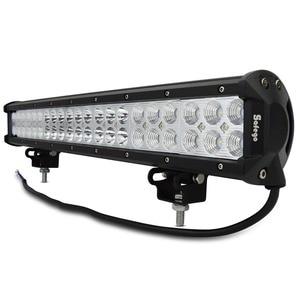 Image 1 - Safego 20 inch led light bar 126w work light for off road truck tractor boat suv atv driving working light 12v 24v combo beam
