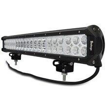 Safego 20 インチledライトバー 126 ワットのための作業灯オフロードトラックトラクターボートsuv atv driving作業灯 12v 24vコンボビーム