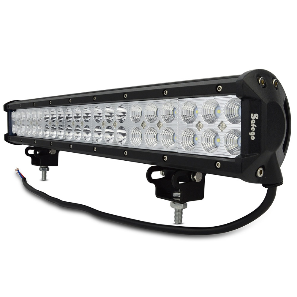Safego 20 ''pouces lumière LED bar 126 w lumière de travail pour hors route camion tracteur bateau suv atv conduite lumière de travail 12 v 24 v combo faisceau