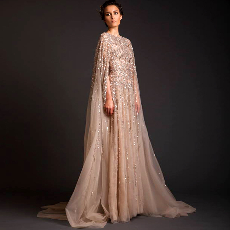 fdf9c1472c US $230.42  Women 2016 new Lebanon Custom Prom Crystal Saudi Arabia Long  Arab Evening Dresses Sleeved Abaya Dress Dubai Kaftan Marocain A-in Evening  ...