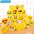 18 Style Emoji pillow Smiley Yellow Round car-styling decorative pillow almofadas Plush coussin cojines emoji smiley face pillow