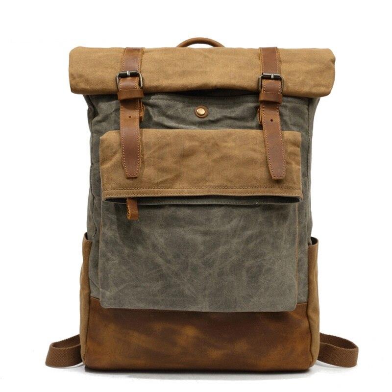 Bagaj ve Çantalar'ten Sırt Çantaları'de M206 Erkekler Rahat Daypacks Vintage keten sırt çantası Okul Çocukları Tasarım Rahat Moda Su Geçirmez Seyahat Çantası Erkek Sırt çantası Sırt Çantası'da  Grup 2