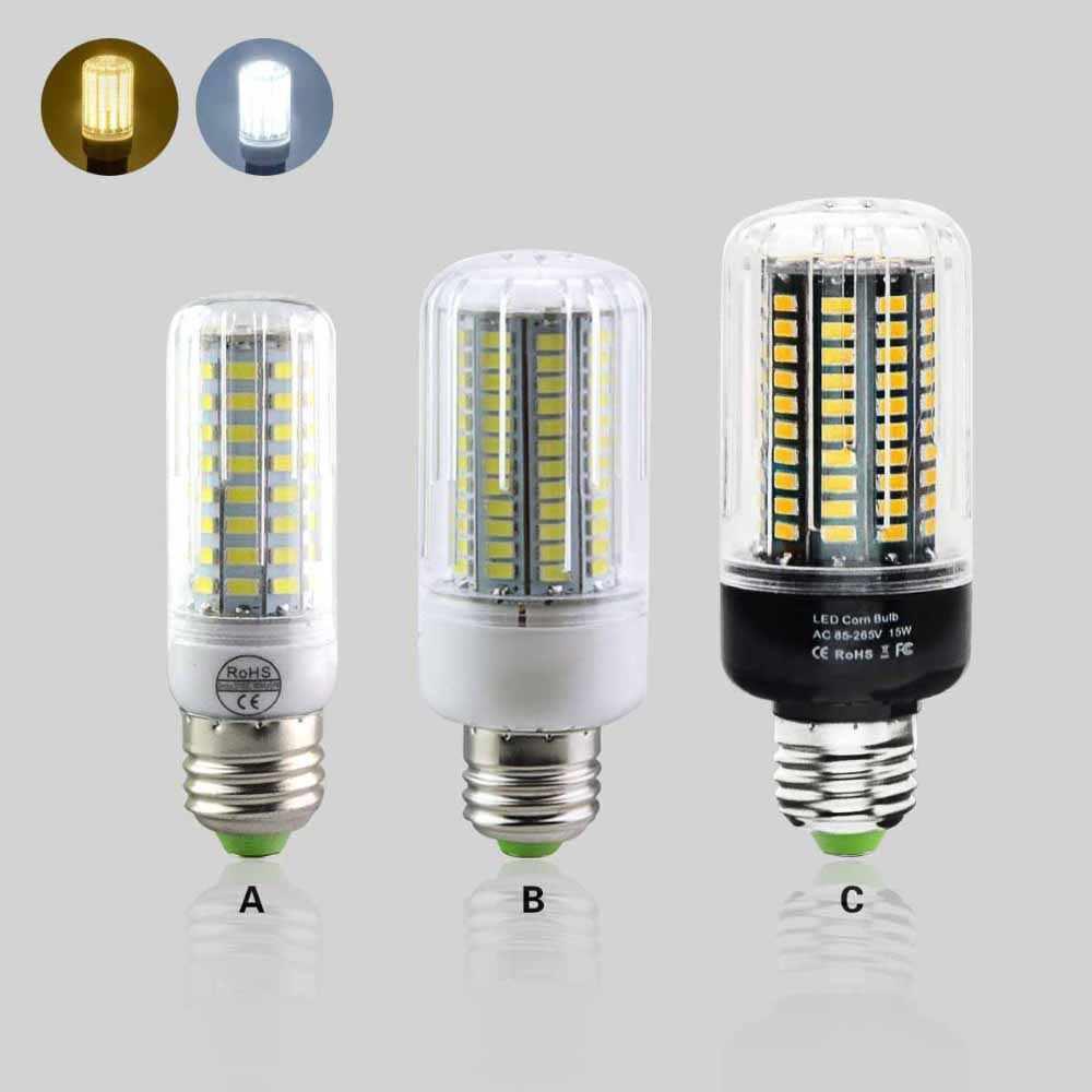 1X Newest E27 Led Bulb Lamp 3W 5W 7W 9W 12W 15W Full Home Lighting SMD5731 SMD5736 Black PCB 220V Spotlight Focos Luz Led Series