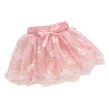 Милый летний ребенок дети девочек цветочные бантом принцесса юбка ну вечеринку юбки 1-4Y горячие L07