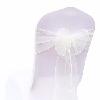 Wedding Organza Symmetry Sash For Party Chairs 4 Chair And Sofa Covers