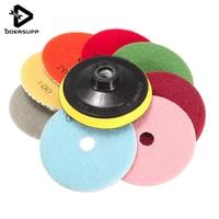 Hot Sale 9Pcs Set 4 Inch 100mm Wet Dry Diamond Polishing Pads Diamond Saw Disc For