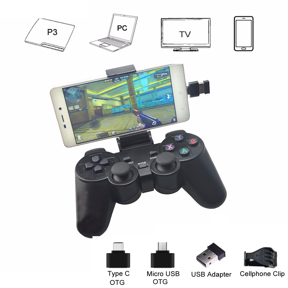 For PS3 Wireless Gamepad 2.4G USB Joystick For Android Phone/PC/PS3/TV Box Joypad Game Controller For Xiaomi Smart Phone
