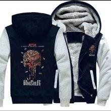 Dropshipping 2018 nuevos estilos Venta caliente Punisher cráneo ocasional Sudaderas  para hombres mujeres lana gruesa chaqueta 302ad4a506ac