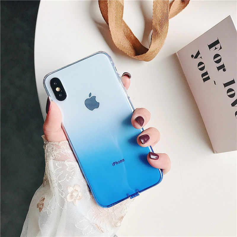 Esamday Corlorful Silicon Mềm TPU Cho 11 Pro 7 8 6 6S 6S Plus 7Plus 8Plus X XS Max XR Ốp Lưng Điện Thoại Iphone 5 5S SE 6Splus