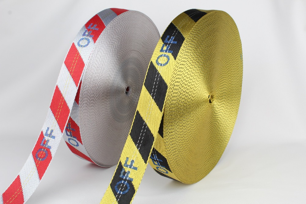 35mm wide 5 yards long a lot Hot and Fashion yellow industrial belt nylon belt (no buckle) free style new design