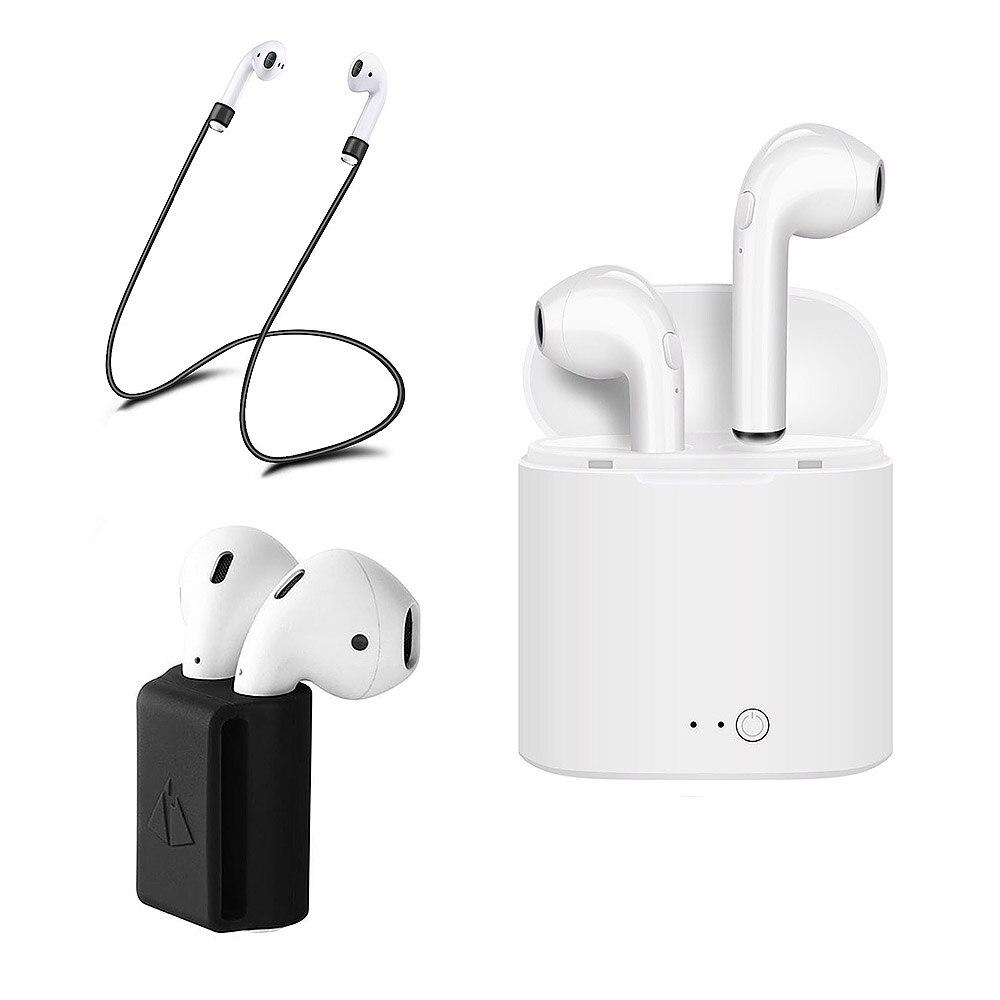 Pour Apple Airpods I7 TWS Écouteurs Ture Sans Fil Bluetooth In-Ear Écouteurs pour IPhone Earpods Anti-perte Bracelet Bracelet En Silicone