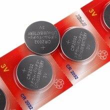 Bateria para Relógio 5 Pçs e lote = 1 Pack Ecr2032 Dl2032 Br2032 Kl2032 L2032 Cr2032 3 V Lithium Botão Celular Coin Xinlu Bateria Marca