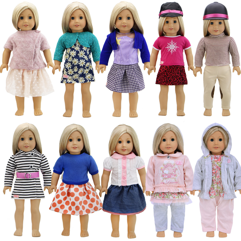 Handmade Outfit Daily Wear Shirt Coat Pants Skirt Dress Cap Pajamas Accessories Clothes For American Girl Doll 18 Inch Doll Gift