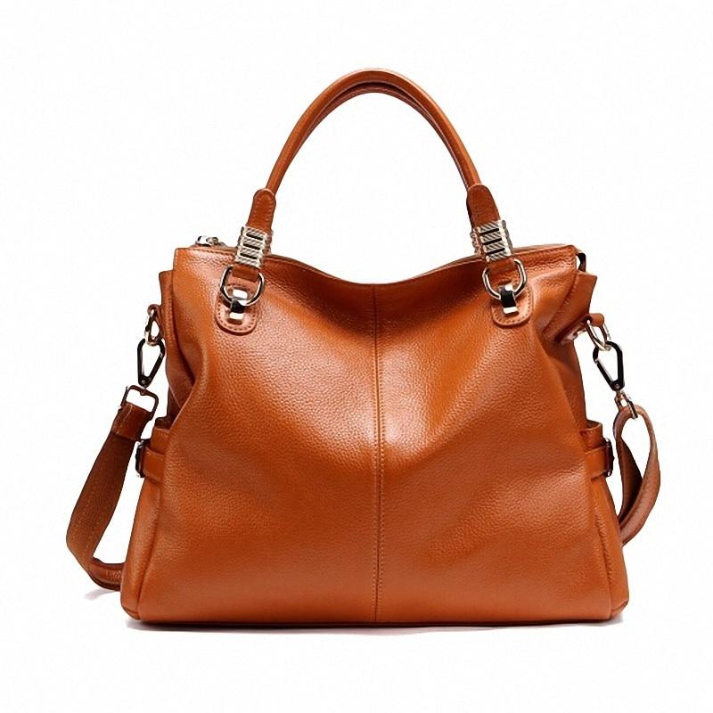 보장 100% 천연 정품 가죽 여성 핸드백 소 가죽 토트 패션 여성 메신저 가방 pt10의 첫 번째 계층-에서탑 핸드백부터 수화물 & 가방 의  그룹 1