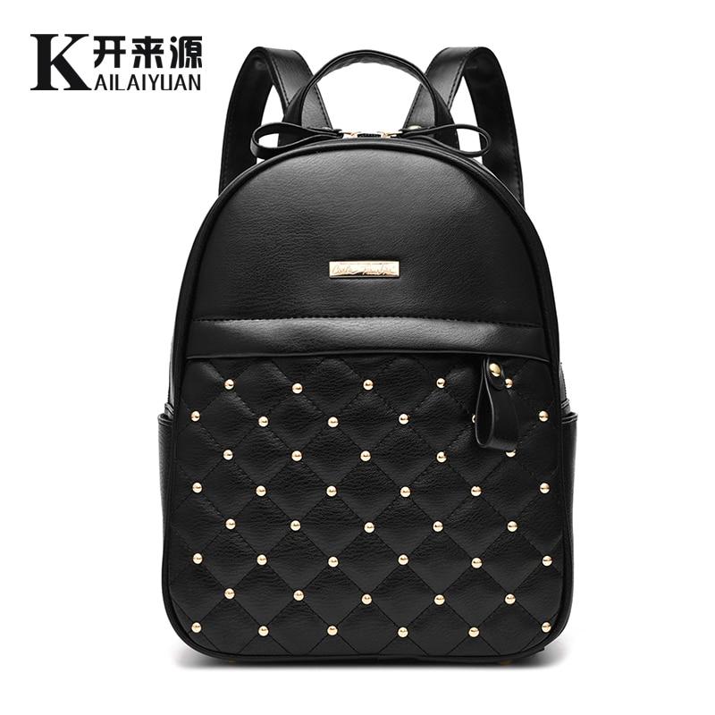 KLY 100% Delle Donne del cuoio Genuino zaino 2019 Nuova borsa a tracolla nuovi studenti alla moda Coreano pacchetto femminile Coreano