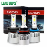 One Pair H4 LED H7 H11 9004 9003 HB2 COB S2 Auto Car Headlight 72W 8000LM