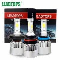 One Pair H4 LED H7 H11 9004 9003 HB2 COB S2 Auto Car Headlight 72W 8000LM