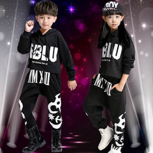 Autumn and Winter HIPHOP Hip-hop Hip Hop Suit Children Jazz Dance Practice Clothing Tide Boys and Girls Clothes Two-piece Set(China)