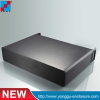 84holes 445*89-300mm 2U Custom IRD Cabinet Aluminum Enclosure aluminum chassis rack mount box
